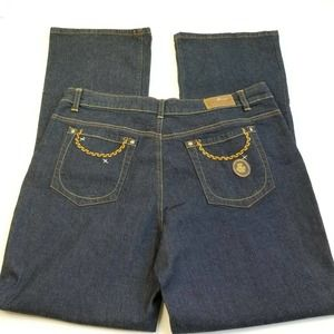 Rocawear Jeans Womens 18 Blue Boot Cut Embroidered